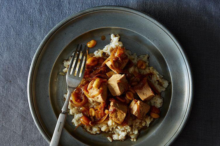 Peanutty, Soy Saucy Tofu