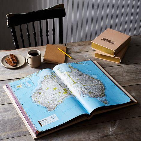 Vachetta Leather-Bound Atlas