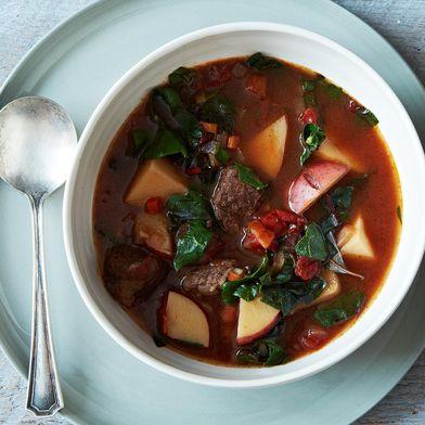 Beef Vegetable Soup Bourguignon