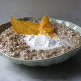 COCONUT, WHITE MISO, CARDAMOM BUCKWHEAT 'RICE' PUDDING PORRIDGE