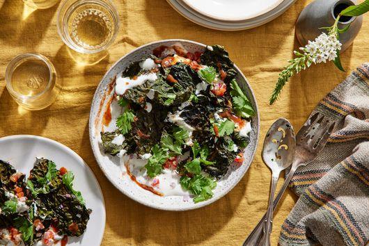 Crispy Kale Chaat