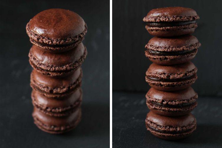 Tonka & Chili Chocolate Macarons