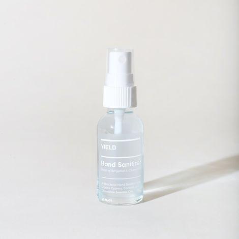 Hydrating Hand Sanitizer Spray in Glass Bottle