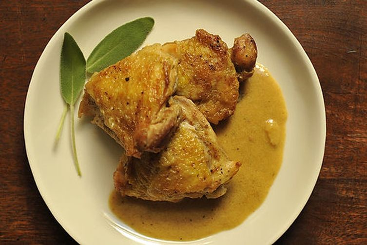 Chicken with Creamy Dijon Mustard Sauce