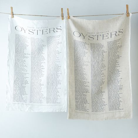 Oyster Linen Tea Towel