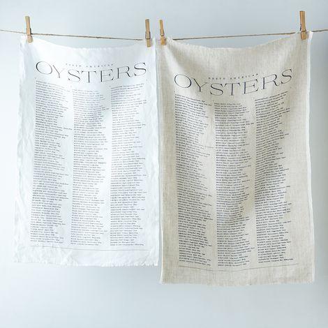 Oyster Linen Tea Towel