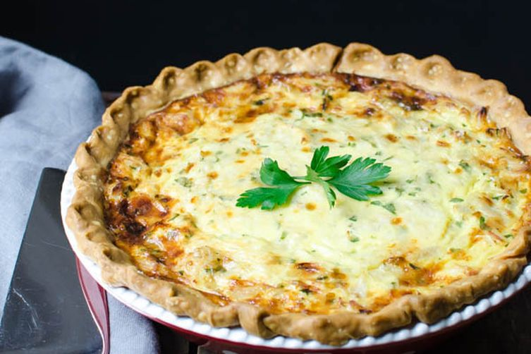 Rustic Crab Quiche
