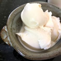 Lemon Curd Buttermilk Ice Cream