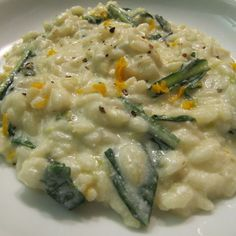Ricotta Risotto with Dandelion Greens and Orange