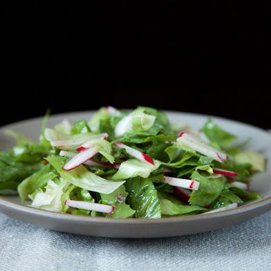 Radish and Escarole Salad with Anchovy Vinaigrette