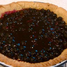 Minty Blueberry Pie