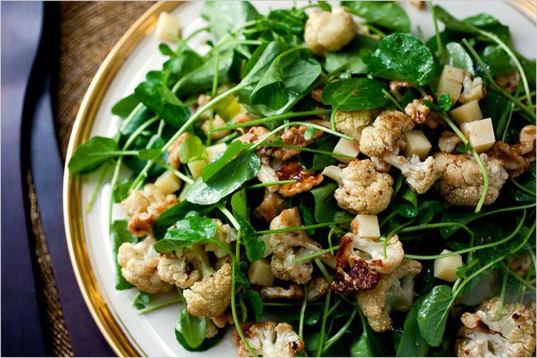 Roasted Cauliflower Salad With Walnuts And Gruyere Recipe