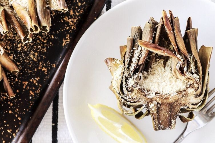 Roasted & Stuffed Artichokes