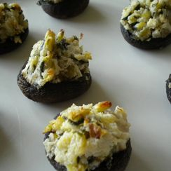 Green Garlic Stuffed Mushrooms