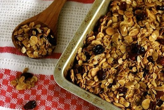 Maple, Almond, and Cranberry Granola