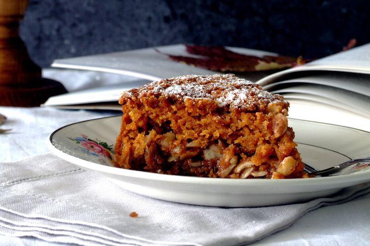 Pumpkin, almond spiced cake