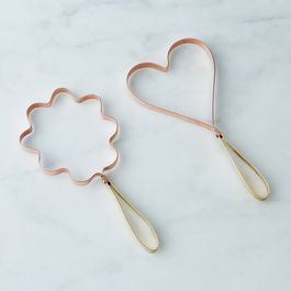 Vintage Copper Cookie Cutters (Set of 2)