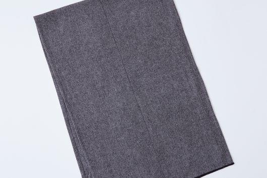 Grey Herringbone Flannel Table Runner