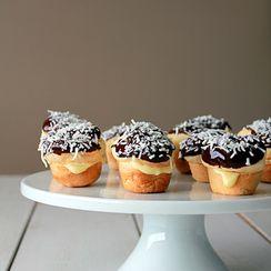 Mini coconut cream puffs