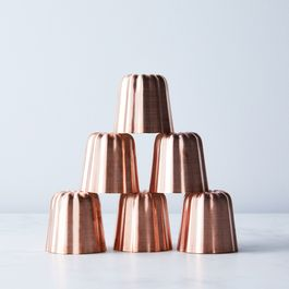 Mauviel Copper Canele Molds (Set of 6)