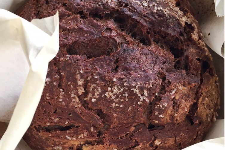 Chocolate Cinnamon Artisan Bread with Almonds