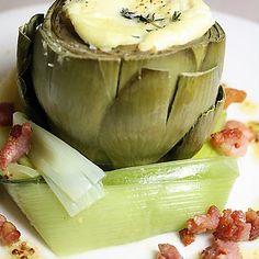 artichokes with fresh ricotta souffle