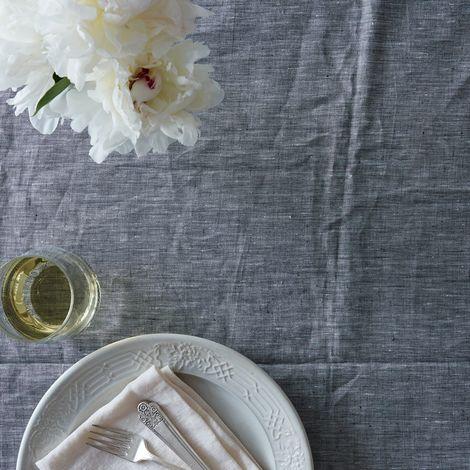 Gray Linen Tablecloth