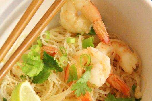 Ginger, Lime & Cilantro Shrimp Noodle Bowls