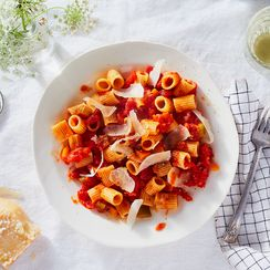 Marcella Hazan's Tomato Sauce with Sautéed Vegetables and Olive Oil