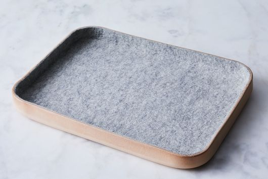 Felt & Leather Catch-All Tray