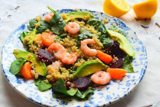 Prawn, Quinoa & Tangerine Salad