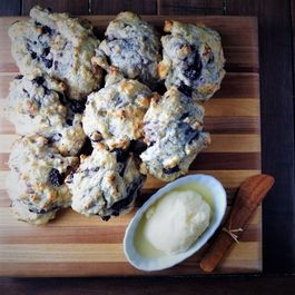 Lemon Blackberry Drop Biscuits and Homemade Butter