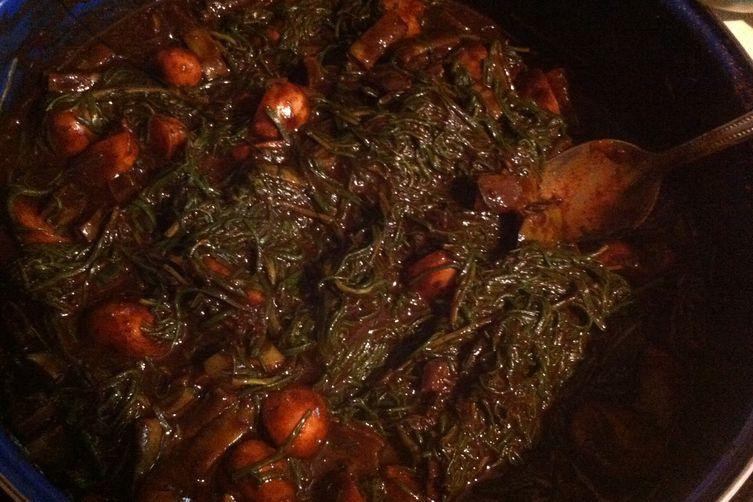 Zucchini Romeritos-Style with Mexican Mole