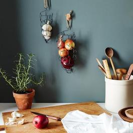 Wall-Mounted Onion & Garlic Baskets