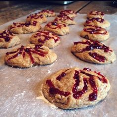 Raspberry Glazed Peanut Butter Cookies