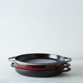 "Staub 10"" Round Double Handle Pure Grill Pan"