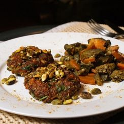 Moroccan Spiced Burgers with Pistachios