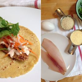 Cornmeal Crusted Banh Mi Fish Tacos
