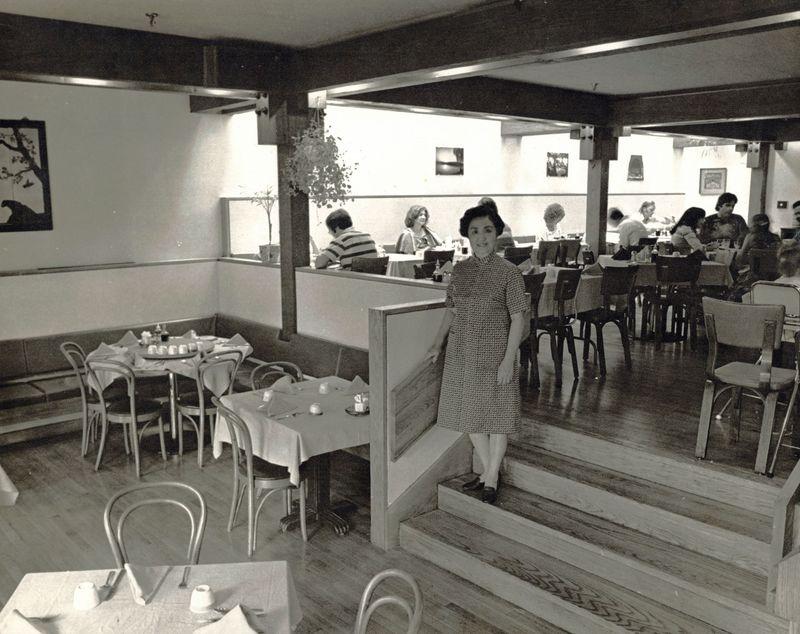 Joyce in her restaurant's dining room, 1973. Courtesy Stephen Chen.