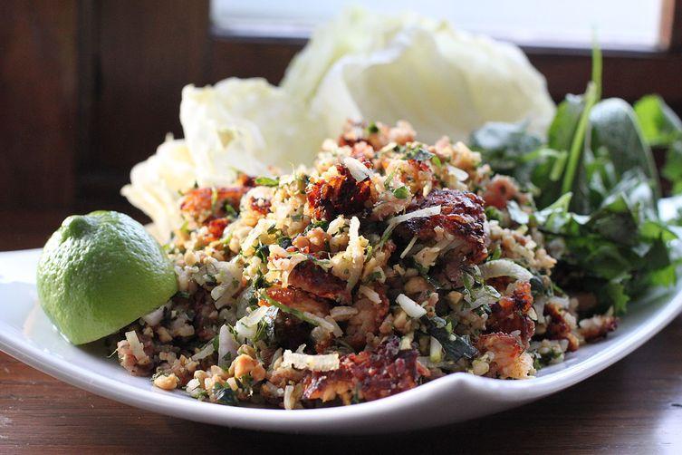 Lao crispy rice salad nam khao recipe on food52 lao crispy rice salad nam khao forumfinder Choice Image