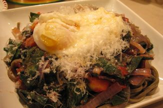 Eb062b94 91c3 410b 9e1b 2e8b8f17b150  pasta chard and an egg