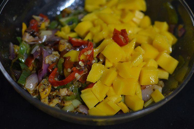 Grilled Citrus & Mango Salsa
