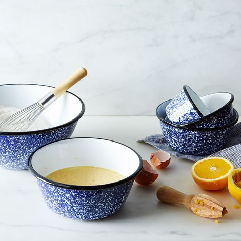 Porcelain Enamelware Nesting Bowls (Sets of 5)