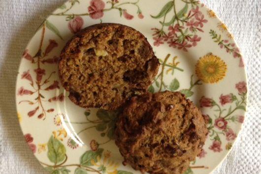 Rustic Banana Bran Muffins