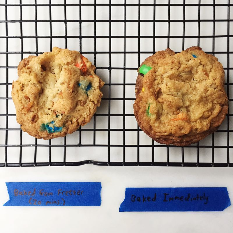 Even a 20-minute stint in the freezer makes for a cookie with less sprawl.
