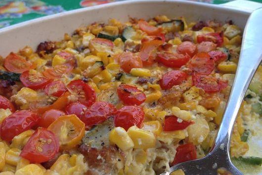 Garlic-y Summer Vegetable Casserole