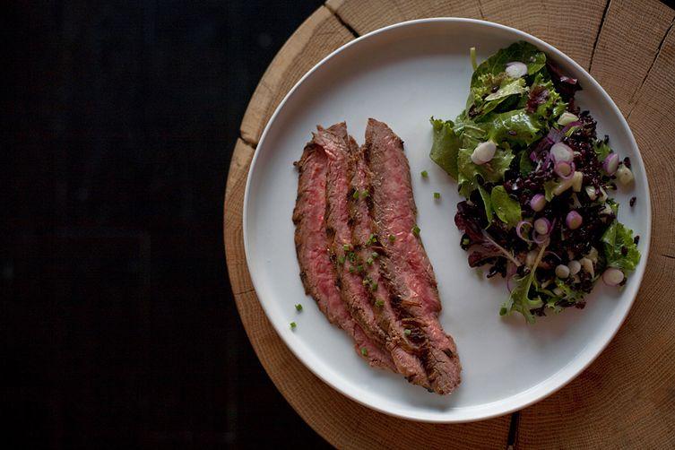 Sweet Forbidden Black Rice and Spicy Flank Steak Salad