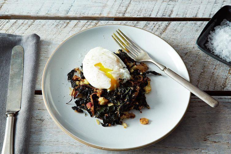 Poached and laid down on a nest of kale and pancetta and breadcrumbs? Yep, yep, yep.