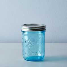 Ball Elite Blue Jars (Set of 8)
