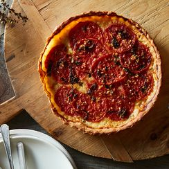 By Popular Demand: A Savory Pie for Your Rock-Hard Tomatoes